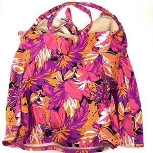 Cacique Swim - Cacique Tankini Swimsuit Top 20 Tropical Floral